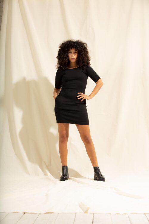 schwarzes fair fashion kleid